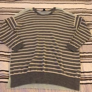 Jcrew Stripped/Color Blocked Wool Sweater